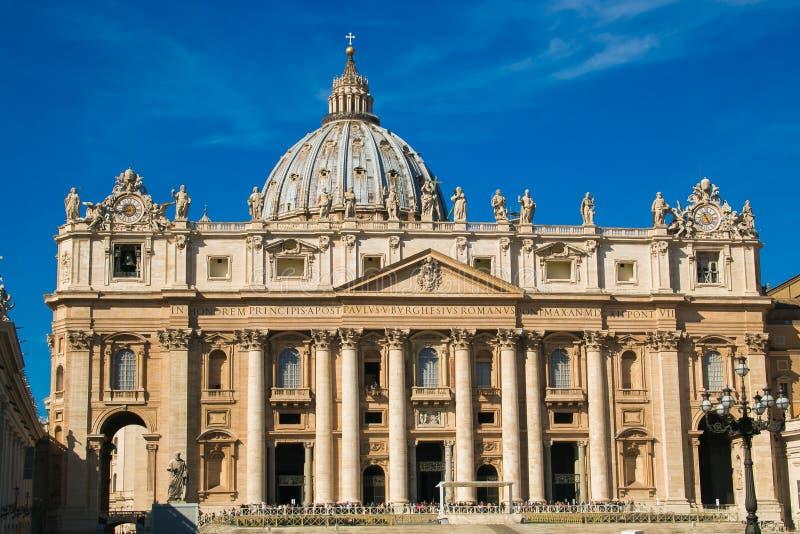 View of St. Peter`s Basilica, Vatican City. Europe stock photos