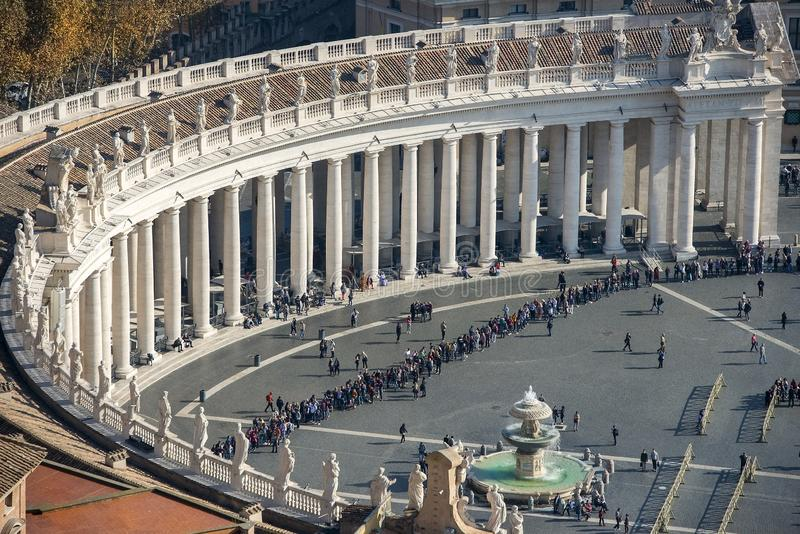 View of St. Peter`s Square, Vatican City royalty free stock photo