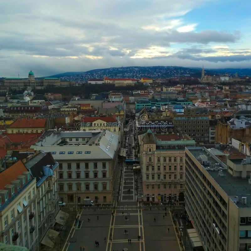 View from St Stephen Cathedral Roof stock photo