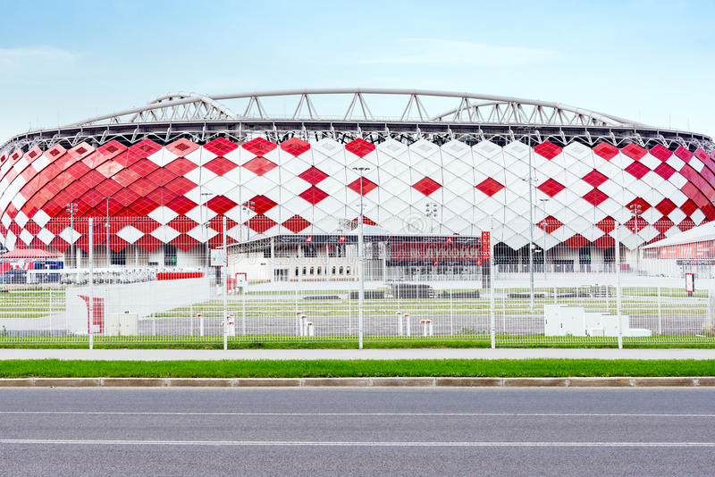 View of the stadium entrance. royalty free stock photography