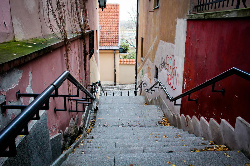 View from the stairs. stock photos