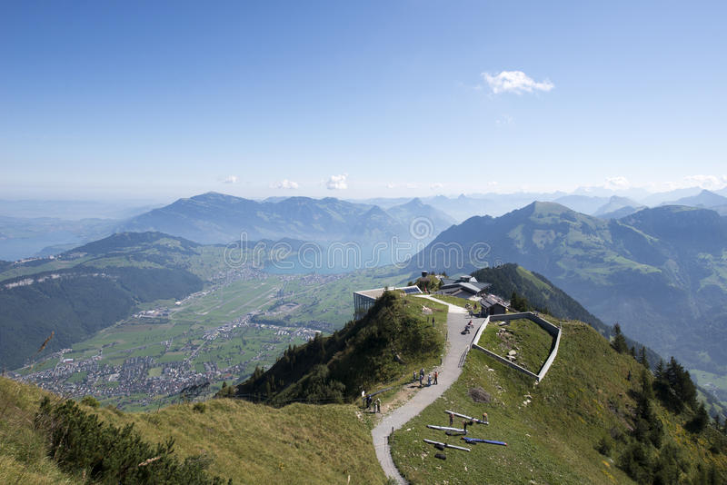 View from the Stanserhorn editorial stock photo Image of outdoors