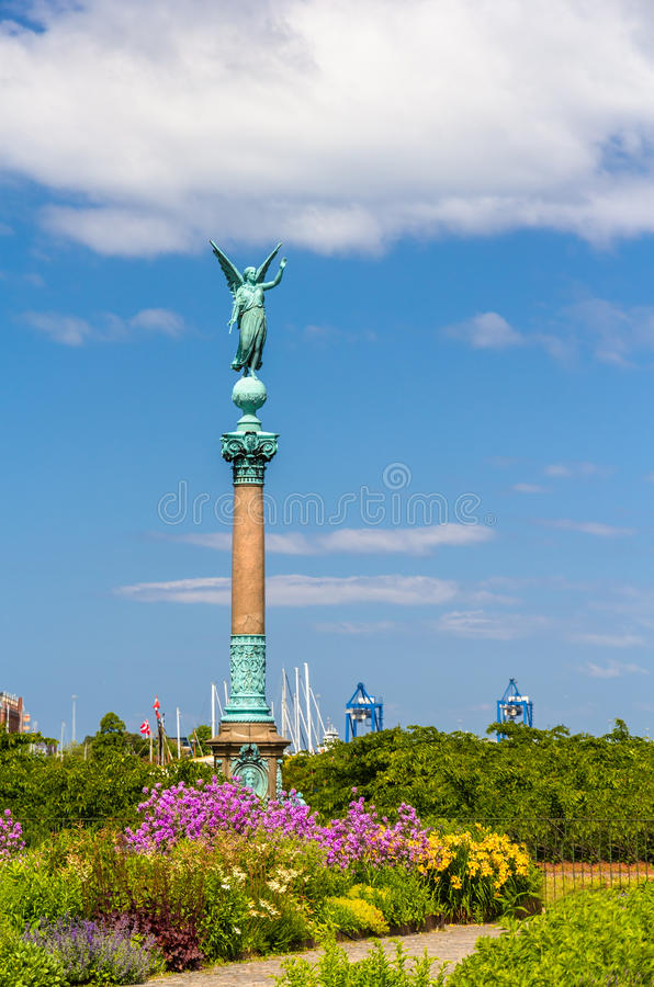 View of statue of Angel of Peace in Copenhagen royalty free stock photos