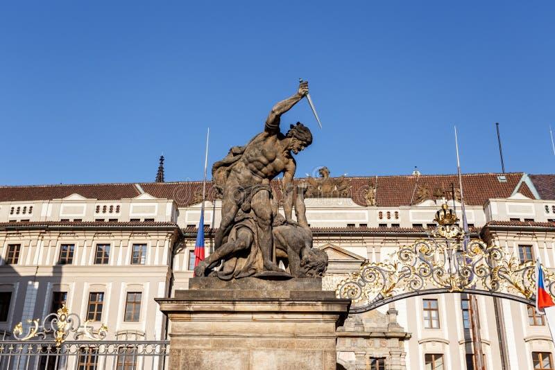 Statue Naked Boy Prague Czech Republic Stock Images