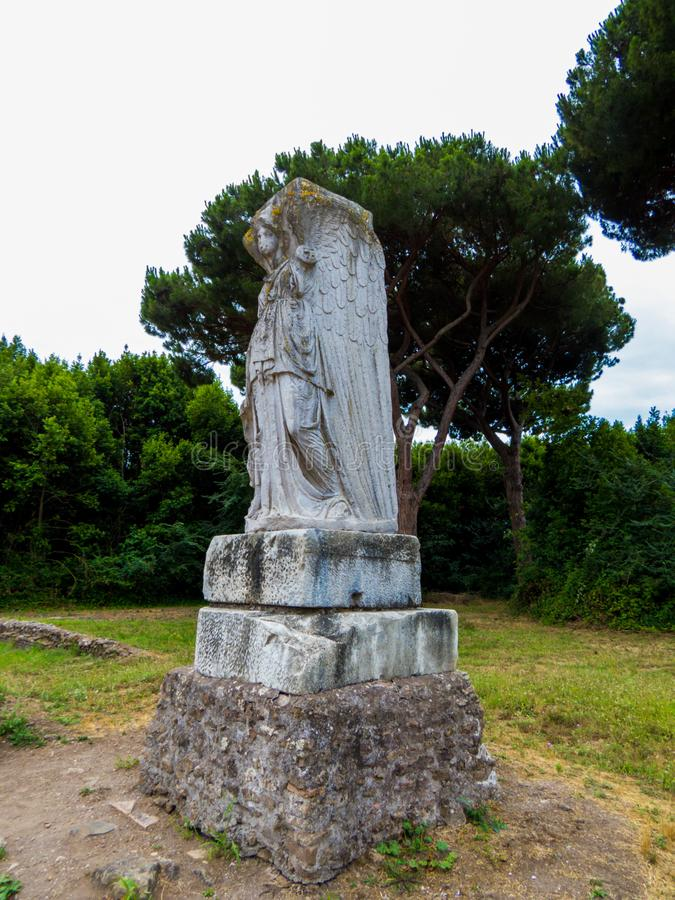 Statue Of Minerva Italic Goddess Of Wisdom Art War And