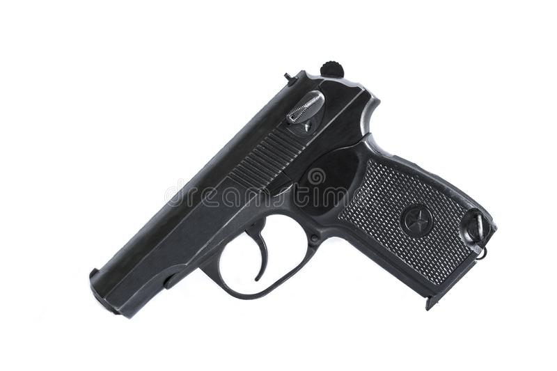 Firearms gun on a background and texture royalty free stock photo