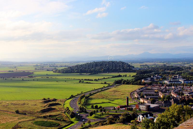 Rural scenery, Stirling royalty free stock image