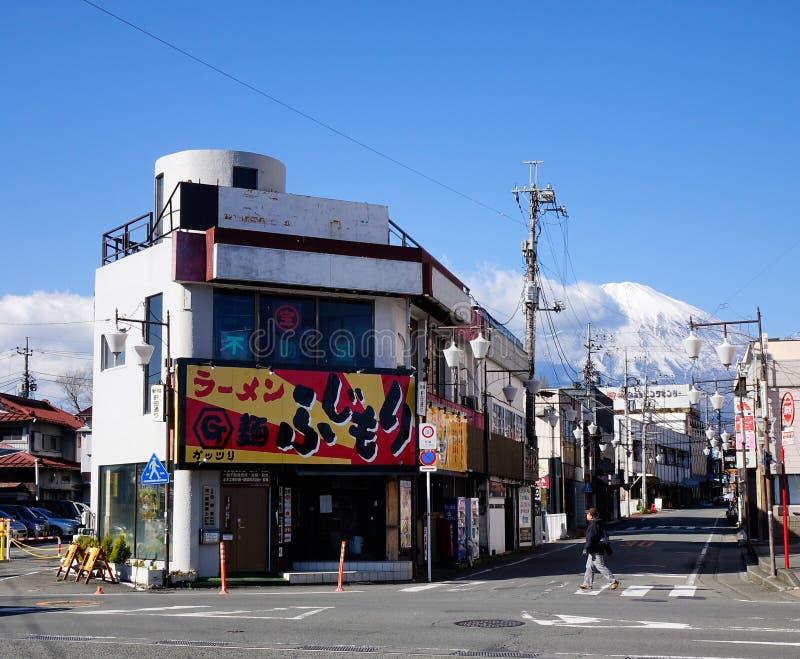 View of the street in Nagoya, Japan. People walking on the street in Nagoya, Japan stock photography