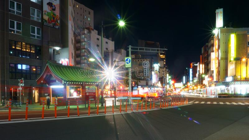 View of street in Tokyo Asakusa district stock photos
