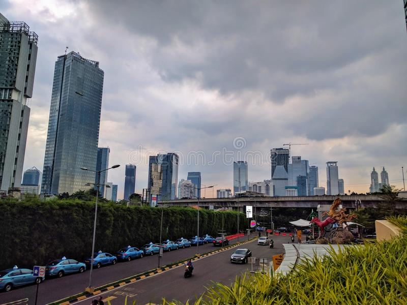 View of a jakarta in java, indonesia royalty free stock photo