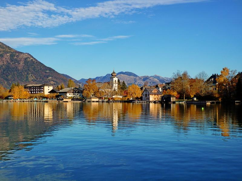 View Of Strobl am Wolfgangsee. Salzkammergut, Austria, Europe royalty free stock photography