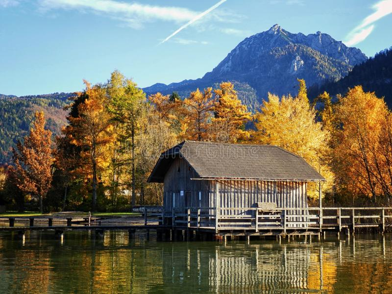 View Of Strobl am Wolfgangsee. Salzkammergut, Austria, Europe stock images