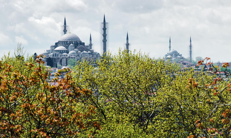 Download View Of Suleymaniye And Fatih Mosques In Istanbul Stock Image - Image: 13996521