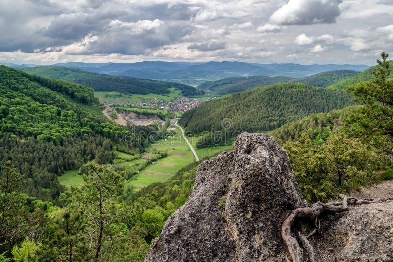 View from Sulov rocks, Slovakia royalty free stock image