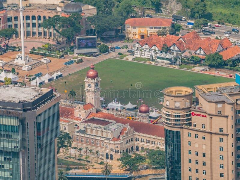 View of Sultan Abdul Samad and Dataran Merdeka Kuala Lumpur From royalty free stock photos