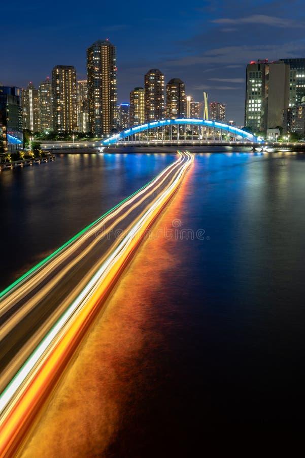 Bridge across the Sumida River royalty free stock photography