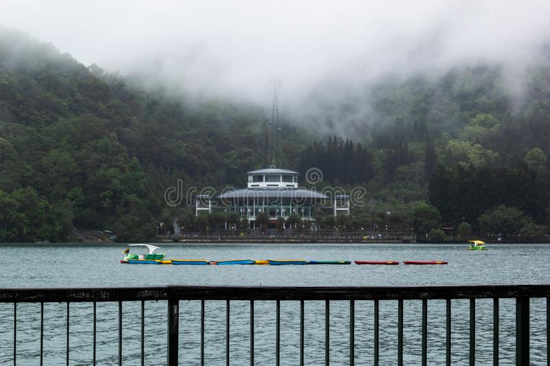 View of Sun Moon Lake stock images