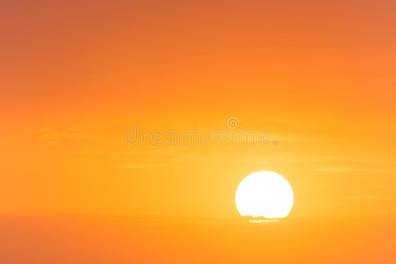 View on sun in picturesque sky. View on rising sun in picturesque sky royalty free stock photos