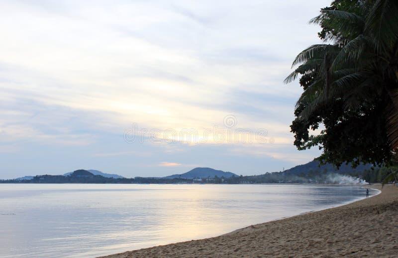 Sunrise at Koh Samui stock images