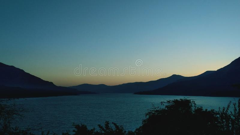 View before sunrise.. stock images