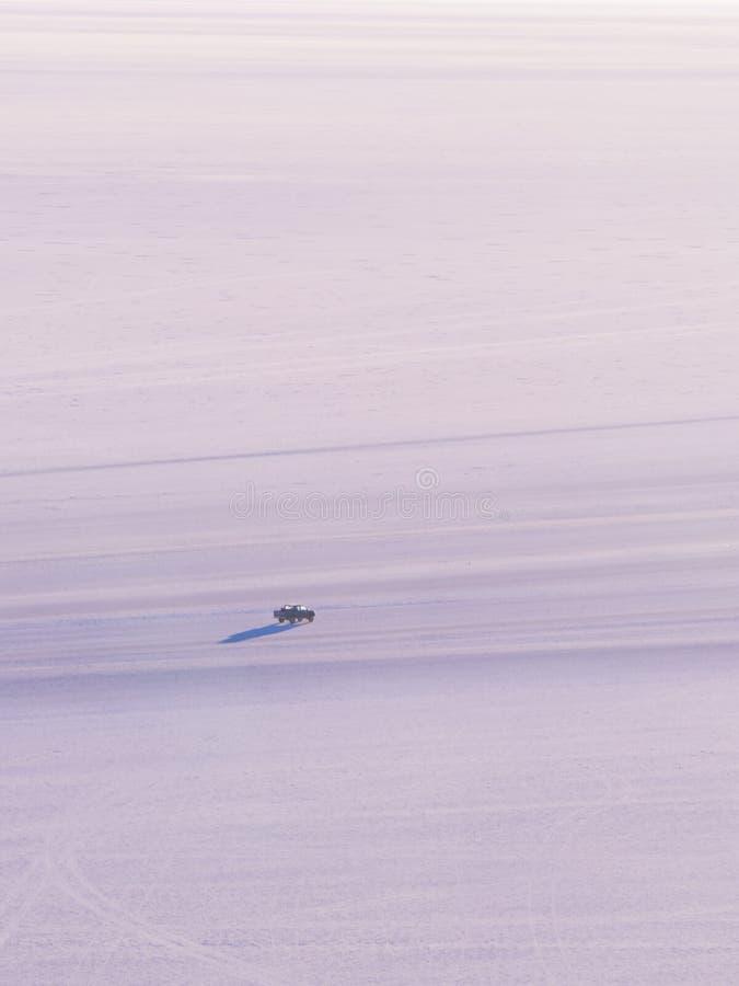 View on sunrise over island incahuasi by salt lake Uyuni in Bolivia. Panoramic stock photos