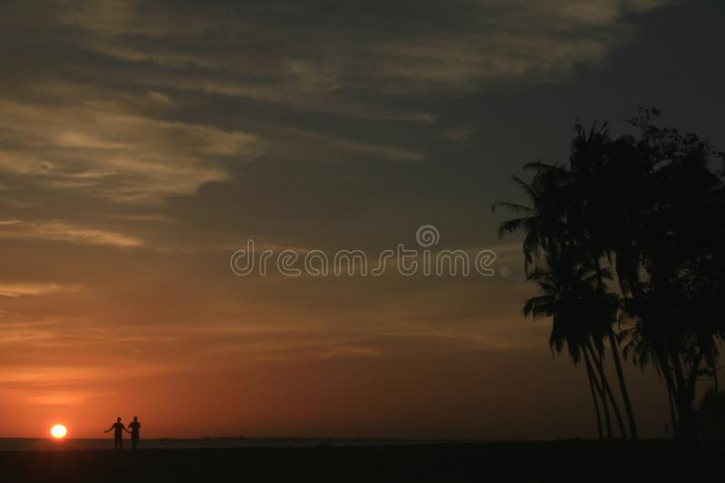 Sunset in Meulaboh, Indonesia. A view of the sunset from Meulaboh City. The westernmost province of Indonesia is known as the Veranda of Mecca royalty free stock photo