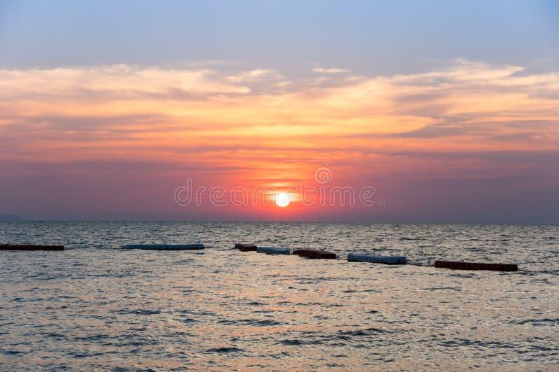 Sunset over Gulf of Thailand stock photos