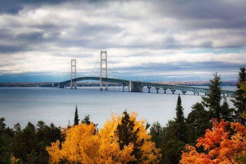 View Of Suspension Bridge stock photo