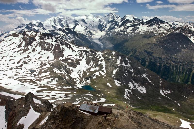 View of Swiss Alps in Summer