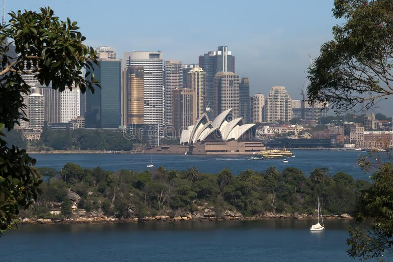 View of Sydney Harbour and Opera House royalty free stock photography