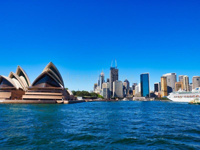 Sydney Opera House and CBD Buildings, Australia royalty free stock photo