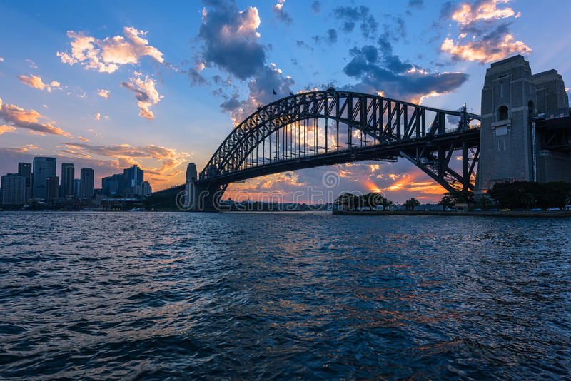View of Sydney Opera House And Harbour Bridge Sydney Australia at sunset. FEB 13,2017 Sydney Opera House is modern building, well known worldwide stock images
