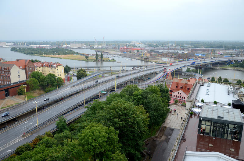 View of the Szczecin in Poland royalty free stock photography