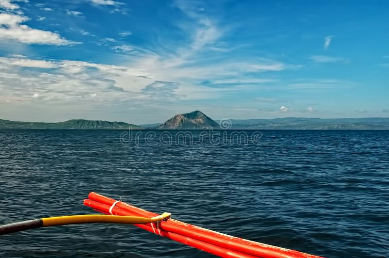 View Of The Taal Volcano royalty free stock photos