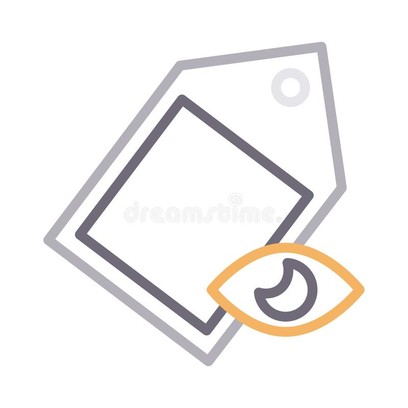 View tag thin color line vector icon. View tag vector icon. Elements for mobile concept and web apps. Thin line icons for website design and development, app vector illustration