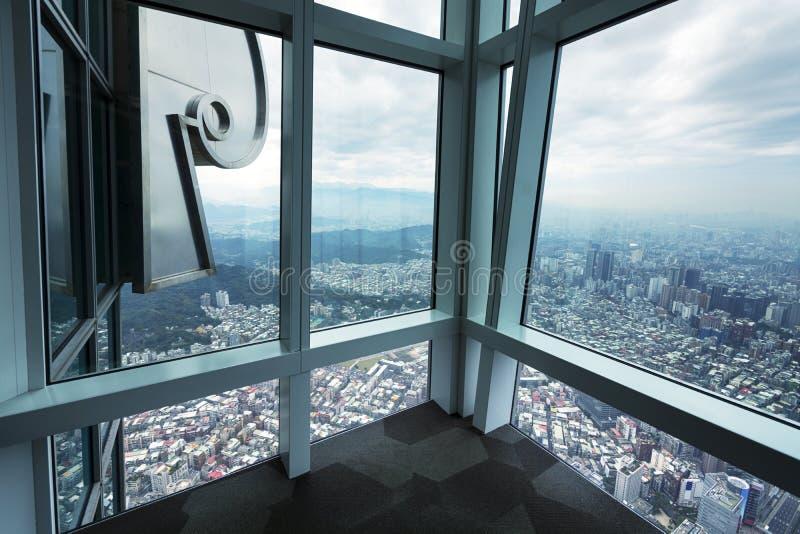 View from Taipei 101 stock image