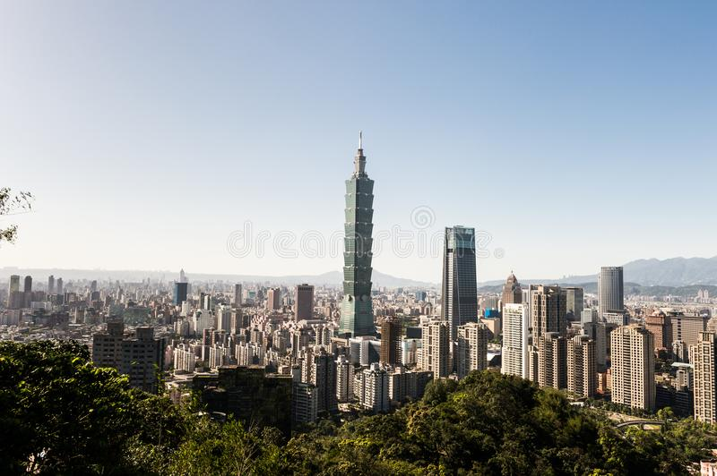 View of Taipei 101 world trade center building royalty free stock photography