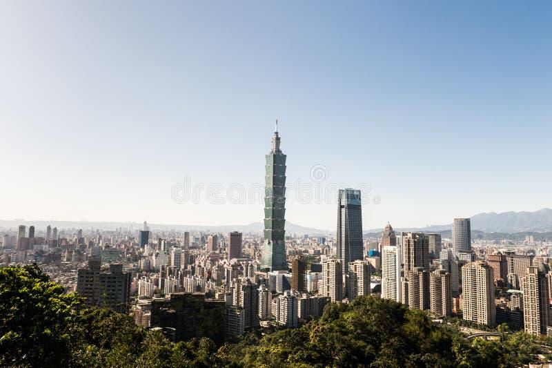 View of Taipei 101 world trade center building stock image