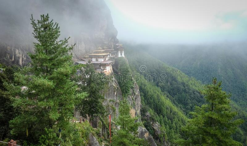 Taktsang Monastery Tiger Nest in Bhutan stock photos