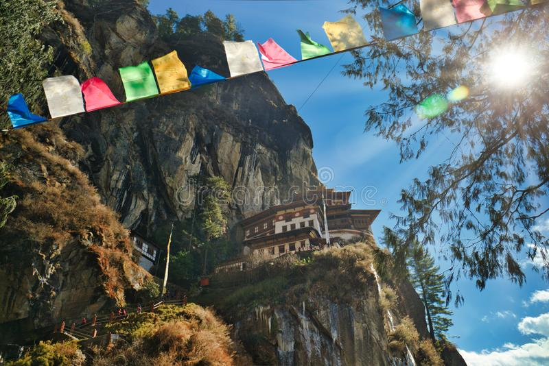 Tiger`s Nest in Paro, Bhutan royalty free stock photos