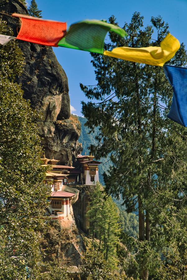 Tiger`s Nest in Paro, Bhutan royalty free stock photo