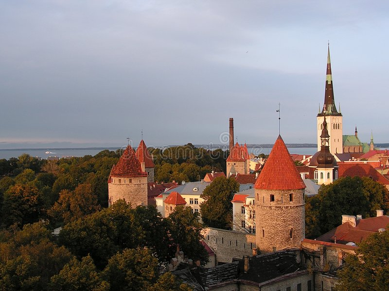 Download View of Tallinn stock image. Image of capital, hanse, chimney - 271259