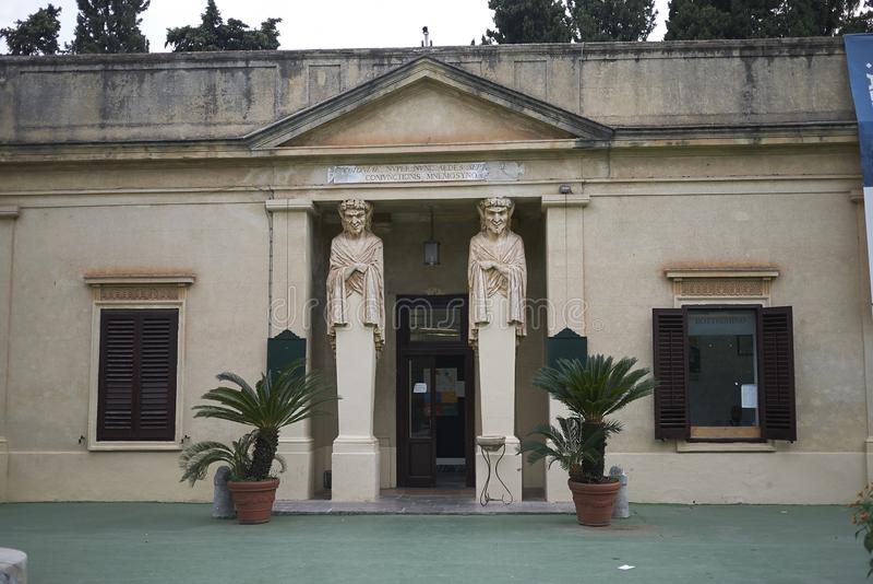 View of Teatro di verdura. Palermo, Italy - September 10, 2018 : View of Teatro di verdura in Palermo stock photos
