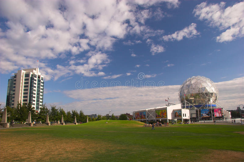 View of Telus World of Science Vancouver BC stock image
