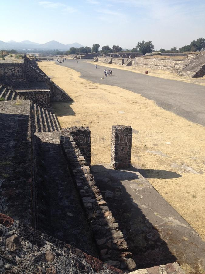 Pyramids On The Avenue Of The Dead Teotihuacan Stock Image