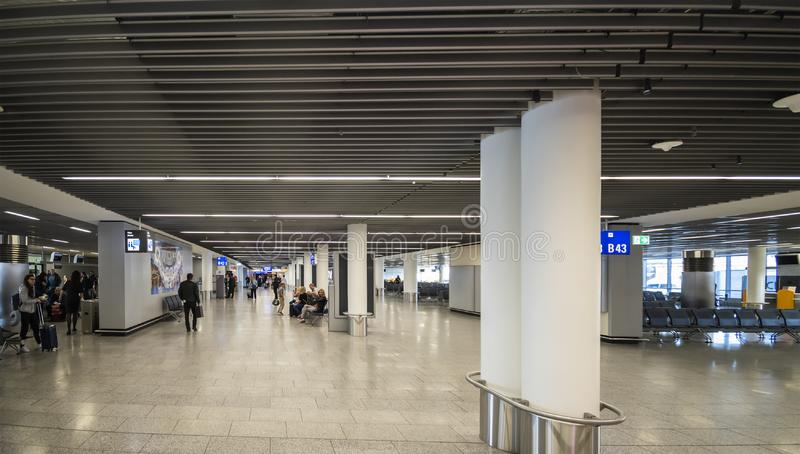 View of the Terminal 1 at Frankfurt INTL Airport (FRA stock image