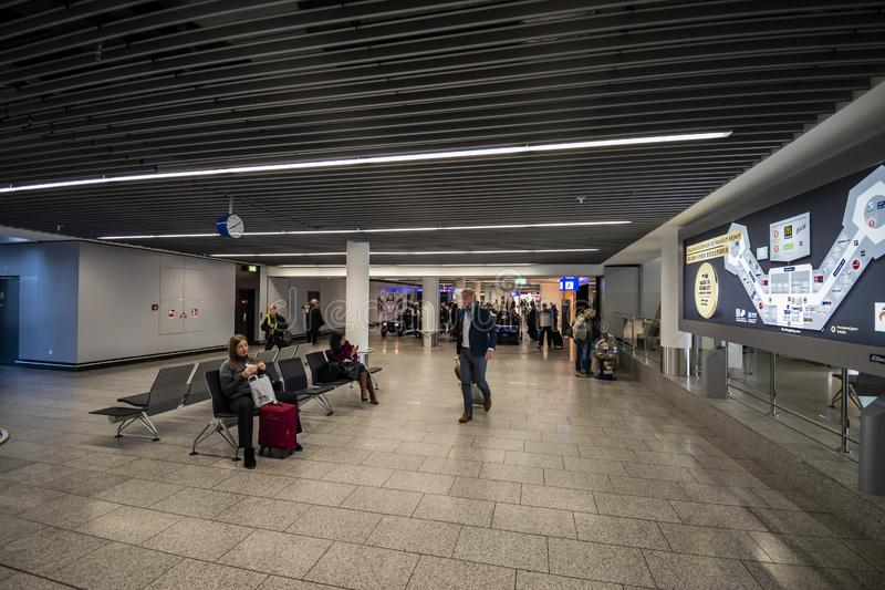 View of the Terminal 1 at Frankfurt INTL Airport (FRA royalty free stock image