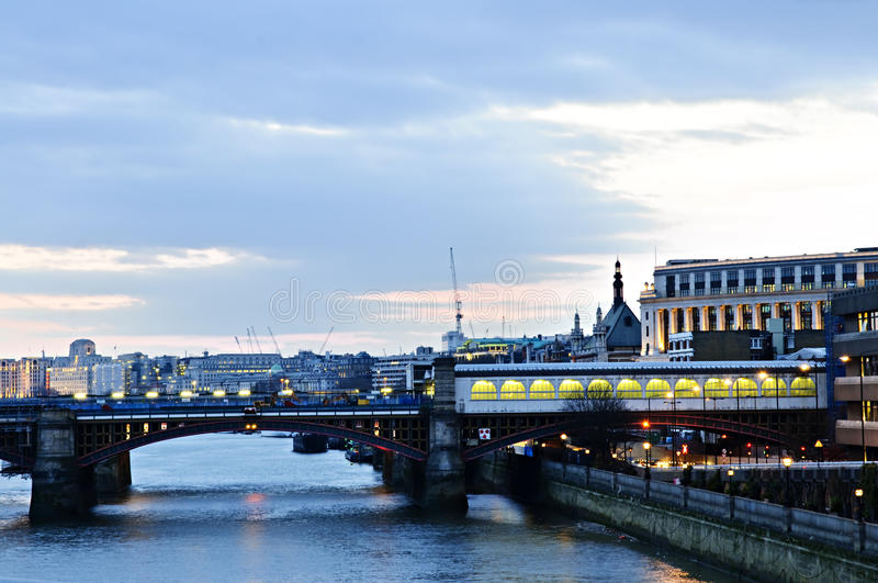 Download View On Thames River At Nighttime, London Stock Image - Image: 11010585