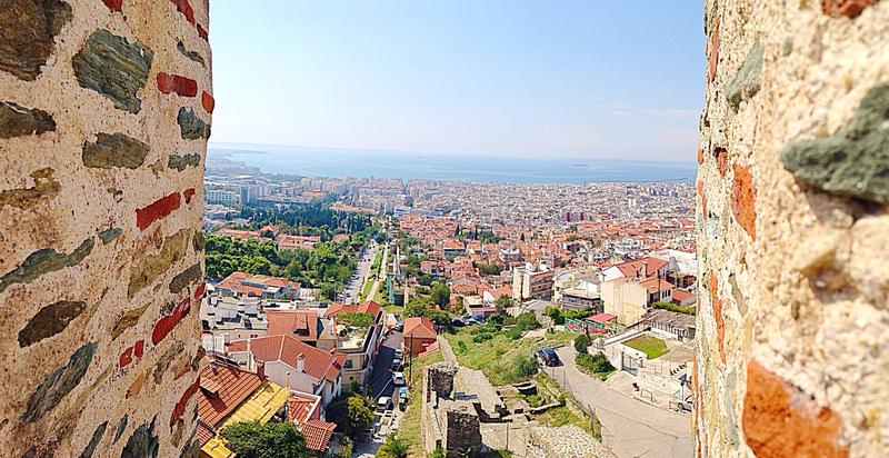 View of thessaloniki Selanik royalty free stock image