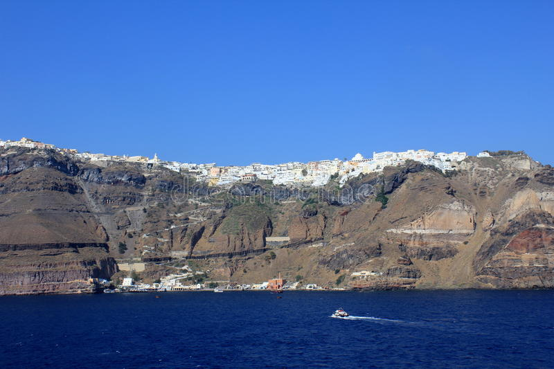 View Of Thira In The Late Afternoon stock photo